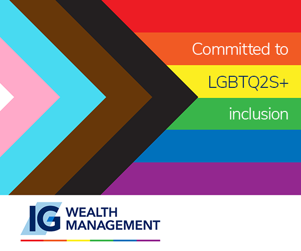 Ig Management Wealth ad with progress flag on the background and support message