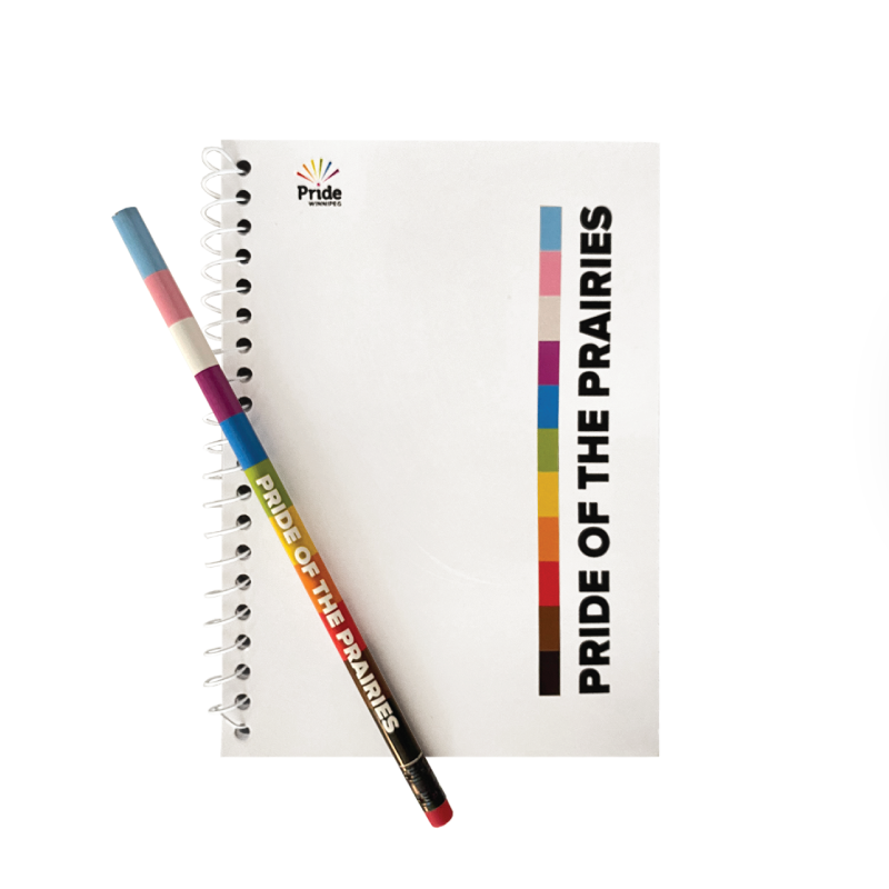 notebook and pencils from the pride of the prairies collection
