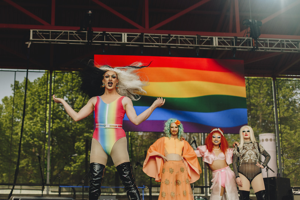 drag queen on the pride stage