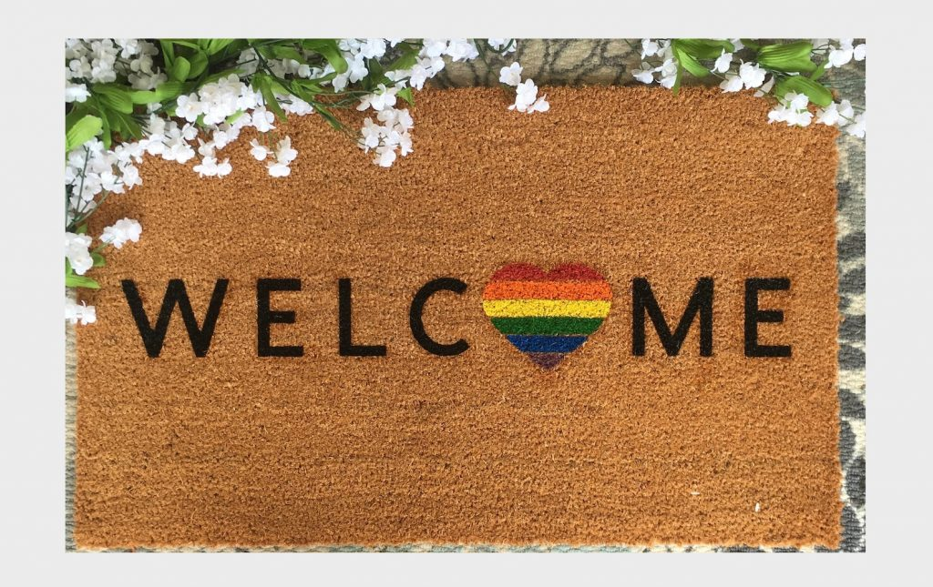 image of pride rug